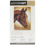 "Horse - Wonderart Classic Latch Hook Kit 20""X30"""