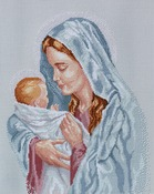 """12""""X15"""" 14 Count - The Blessed Mother Counted Cross Stitch Kit"""