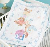 "34""X43"" - Sleepy Bunnies Quilt Stamped Cross Stitch Kit"