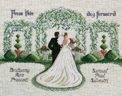 """14""""X11"""" 14 Count - From This Day Forward Counted Cross Stitch Kit"""