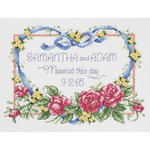 """10""""X8"""" 14 Count - Married This Day Counted Cross Stitch Kit"""