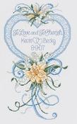 "9""X15"" 14 Count - Cherish Wedding Heart Counted Cross Stitch Kit"