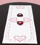"Valentine's Day - Stamped Table Runner/Scarf 15""X42"""