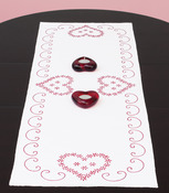 """Valentine's Day - Stamped Table Runner/Scarf 15""""X42"""""""