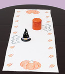 "Halloween - Stamped Table Runner/Scarf 15""X42"""