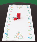"Christmas - Stamped Table Runner/Scarf 15""X42"""
