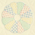 """Interlocking Dresden Circle - Stamped Ecru Quilt Blocks 18""""X18"""" 6/Pkg"""