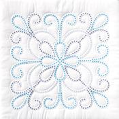"""XX Design - Stamped White Quilt Blocks 18""""X18"""" 6/Pkg"""