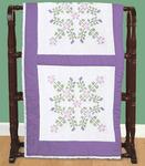 """XX Starflowers - Stamped White Quilt Blocks 18""""X18"""" 6/Pkg"""