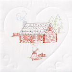 "Cabin - Stamped White Quilt Blocks 18""X18"" 6/Pkg"