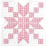 "XX Stepping Stones - Stamped White Quilt Blocks 18""X18"" 6/Pkg"