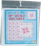 """XX Star - Stamped White Quilt Blocks 18""""X18"""" 6/Pkg"""