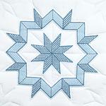 "Kaleidoscope Star - Stamped White Quilt Blocks 18""X18"" 6/Pkg"