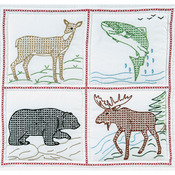 "Wilderness - Stamped White Quilt Blocks 18""X18"" 6/Pkg"