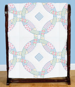 Jack Dempsey Stamped White Quilt Blocks 18X18 6//Pkg-Iris