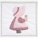 """Sunbonnet Girl - Stamped White Quilt Blocks 18""""X18"""" 6/Pkg"""
