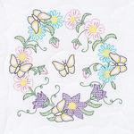 "Butterfly Wreath - Stamped White Quilt Blocks 18""X18"" 6/Pkg"