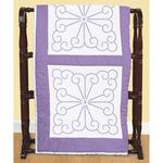 """XX Vintage Design - Stamped White Quilt Blocks 18""""X18"""" 6/Pkg"""