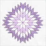 "Lone Star - Stamped White Quilt Blocks 18""X18"" 6/Pkg"