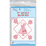 "Sunbonnet Sue - Stamped White Quilt Blocks 9""X9"" 12/Pkg"