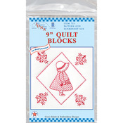 "Sunbonnet Sue - Stamped White Quilt Blocks 9""X9"" 12/Pkg"