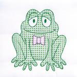"Froggy - Stamped White Quilt Blocks 9""X9"" 12/Pkg"