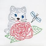 """Kitten & Rose - Stamped White Quilt Blocks 9""""X9"""" 12/Pkg"""