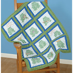 "Frogs - Themed Stamped White Quilt Blocks 9""X9"" 12/Pkg"