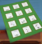 """Creatures In Jars - Themed Stamped White Quilt Blocks 9""""X9"""" 12/Pkg"""