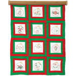 """Ornaments - Themed Stamped White Quilt Blocks 9""""X9"""" 12/Pkg"""