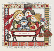 "9""X8-1/2"" 14 Count - Families Are Forever Counted Cross Stitch Kit"