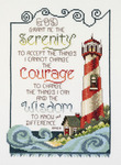 """7""""X10"""" 14 Count - Serenity Lighthouse Counted Cross Stitch Kit"""