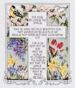 """10-1/4""""X12-1/4"""" 14 Count - John 3:16-17 Counted Cross Stitch Kit"""