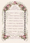 """8-1/4""""X12"""" 14 Count - What Cancer Cannot Do Counted Cross Stitch Kit"""