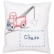 "Tow Truck - Stamped Tooth Fairy Pillow Cover 8""X8"""