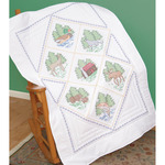 """Great Outdoors - Stamped White Lap Quilt Top 40""""X60"""""""