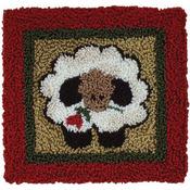 """3.25""""X3.25"""" - Round Sheep Punch Needle Kit"""
