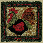 """3.375""""X3.375"""" - Rooster Punch Needle Kit"""