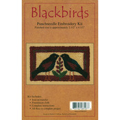"2.5""X4.5"" - Blackbirds Punch Needle Kit"