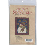 "3""X4"" - Midnight Snowman Punch Needle Kit"