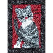 "2.5""X3.75"" - Small Cat Punch Needle Kit"