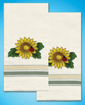 Sunflower - Stamped Kitchen Towels For Embroidery
