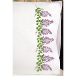 "Wisteria - Stamped Pillowcase Pair 20""X30"" For Embroidery"