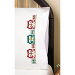 """Owls - Stamped Pillowcase Pair 20""""X30"""" For Embroidery"""