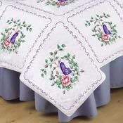 "Butterfly Heart - Stamped White Quilt Blocks 18""X18"" 6/Pkg"