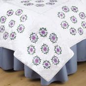 "Floral Vine - Stamped White Quilt Blocks 18""X18"" 6/Pkg"