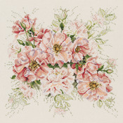 """13""""X13"""" 14 Count - Garden Roses Counted Cross Stitch Kit"""