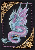 """11""""X15"""" 14 Count - Mythical Dragon Picture Counted Cross Stitch Kit"""
