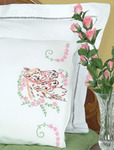 Mare & Colt - Stamped Pillowcases With White Perle Edge 2/Pkg