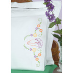 Praying Hands - Stamped Pillowcases With White Perle Edge 2/Pkg